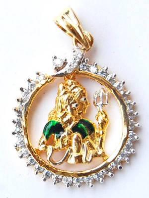 Shiv Parvati AD Pendant Set