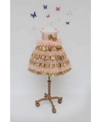 Peach Net Dress