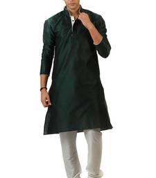 Buy Green Blended Kurta pyjama eid-mens-wear online