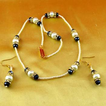 moti necklaces with earing