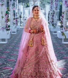 Pink Color Wedding Bridal Lehenga Choli