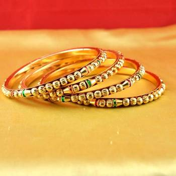 gold platted bangles size-2.6,2.8