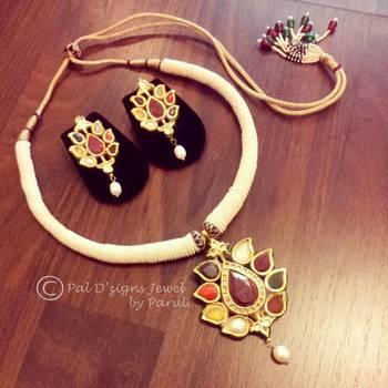 Nawab navrattan kundan Necklace set