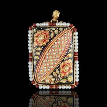 Flower Art Tanjore  Pendant