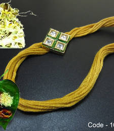 Buy Golden AD Kundan Rakhi send-rakhi-to-australium online