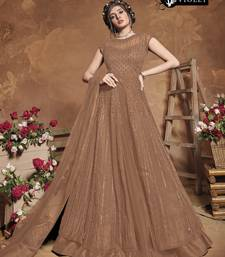 Chiku Color Net Embroidered Women Semi Stitched Heavy Long Gown