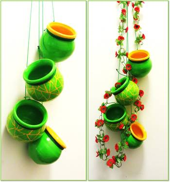 Green Mosaic Terracotta Hanging