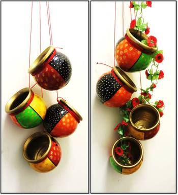 Multicolored heritage terracotta hanging