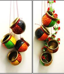 Buy Multicolored heritage terracotta hanging pot online