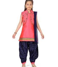 Red plain silk salwar suits