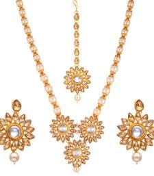 Copper cubic zirconia necklace-sets