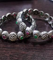 oxidised bangle  German silver bangles, temple jewelry bangle set