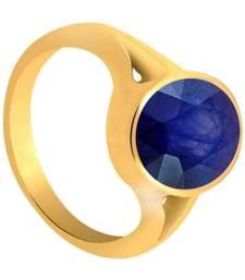 Raviour Lifestyle Blue Sapphire  Neelam 100% Original Gemstone Asthdhatu  Ring