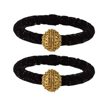 Brass and Acrylic bangles color-Black