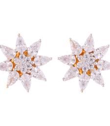 Buy Zircon 8 Petals Floral Tops With CZ stones stud online
