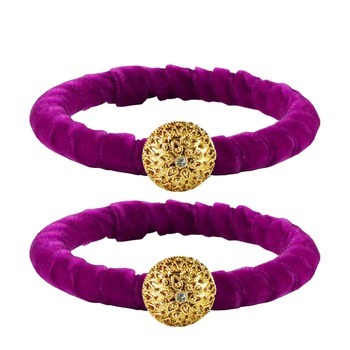 Brass and Acrylic bangles color-Purple