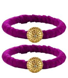 Buy Brass and Acrylic bangles color-Purple bangles-and-bracelet online