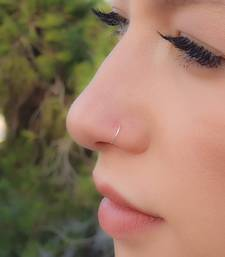 COMBO of 2 Circular Silver Designer Nose Ring