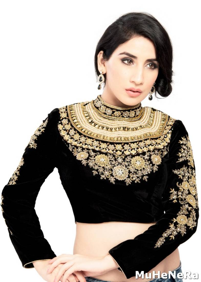 a740a92babdaa2 THE MAHARANI BLOUSE. STUDDED   EMBROIDERED - muhenera s - 519575