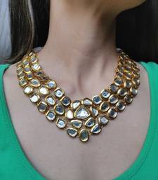 Golden Kundan Necklace Only