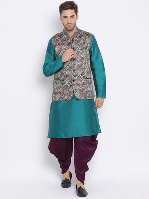 multicolor 3Pc Kurta Harem and waistcoat