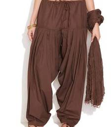 Buy Brown Cotton Patiyala and Dupatta Set other-apparel online