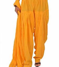 Buy Yellow Cotton Patiyala and Dupatta Set other-apparel online