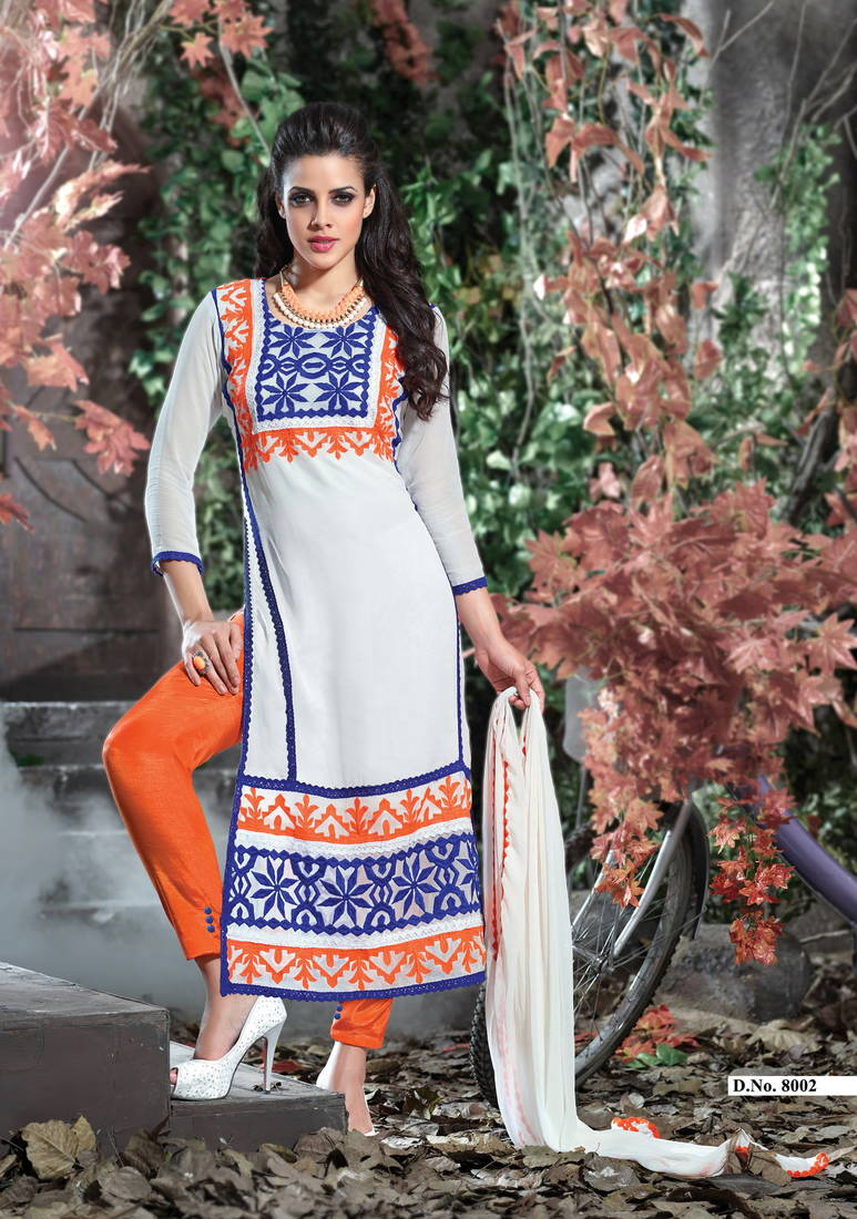 eee6fdf344a7 white embroidered cotton semi stitched salwar with dupatta ...