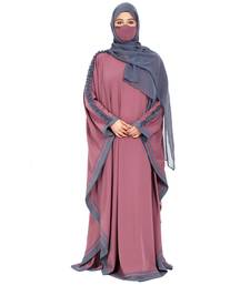 Kaftan Abaya With Stripes & Ruffles