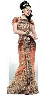 Designer Saree with Embroidery work - Party wear - Wedding - Riyaa