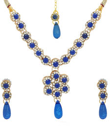 Buy The Luxor Majestic Blue Coloured Designer Necklace party-jewellery online