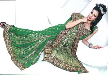Designer Saree with Embroidery work - Party wear - Wedding - Riyaa 902606