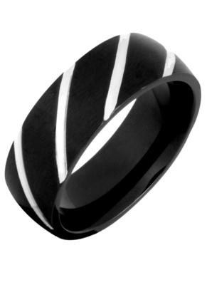 Black Silver 316L Surgical Stainless Steel Wedding Engageent Band Ring for Men