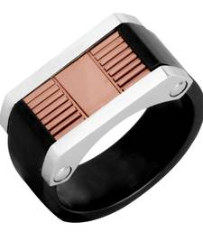 Buy Black Rose Gold Plated 316L Surgical Stainless Steel Wedding Engageent Ring for Men Ring online
