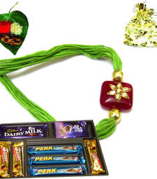 Buy Best Jewel Rakhi selling store rakhi-with-chocolate online