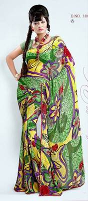 Indian Bollywood Designer Exclusive Georgette Party Wear Sari Saree D.No1005A