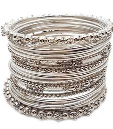Silver cubic zirconia bangles-and-bracelets