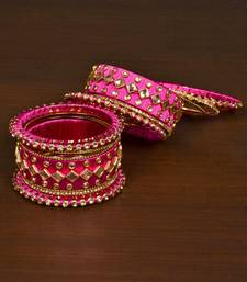 Silk thread with Zircon Stone worked Bangle Set for Women BD536
