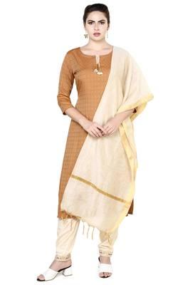 Brown plain rayon party-wear-kurtis