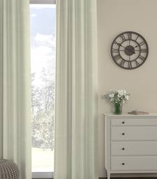ROSARA HOME Pack of Single Eyelet Polyester Curtain,Cream