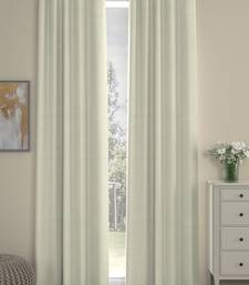 ROSARA HOME Pack of 2 Eyelet Polyester Curtains,Cream