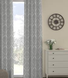 ROSARA HOME Pack of Single Eyelet Polyester Curtain,Silver