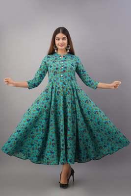 Fashionfricks Rama Rayon Anarkali Kurti