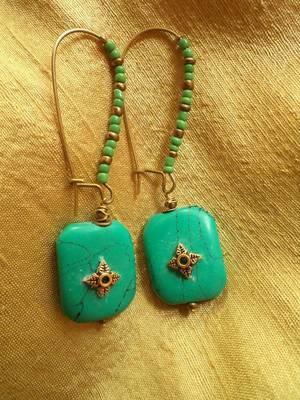 Green Gold Earrings-03062