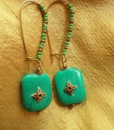 Buy Green Gold Earrings-03062  danglers-drop online