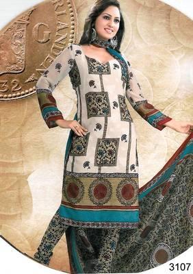 Cotton Salwar Kameez Material - Printed - Riyaa 903093