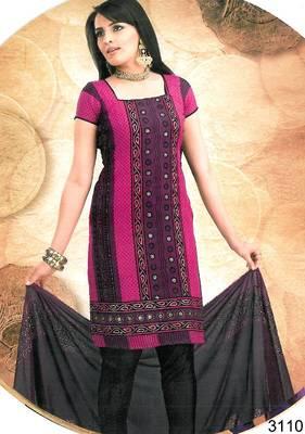 Cotton salwar kameez material - printed - riyaa 903094