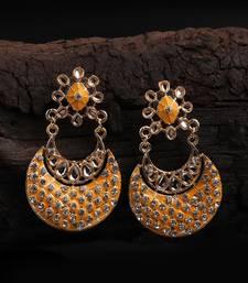 Yellow Gold Plated Chandbali Earrings