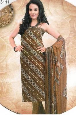 Cotton salwar kameez material - printed - riyaa 903095