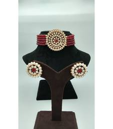 Choker set in Red Pearl